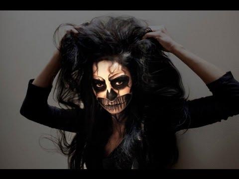 Sexy Skeleton Halloween Makeup - Lady Gaga
