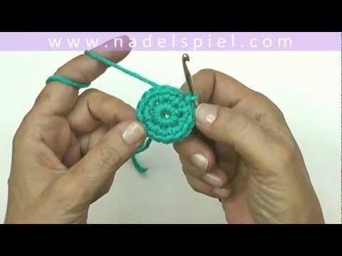 Häkeln lernen mit eliZZZa #19 * Fadenring für Granny Squares * Häkeln in Runden * Magic Ring