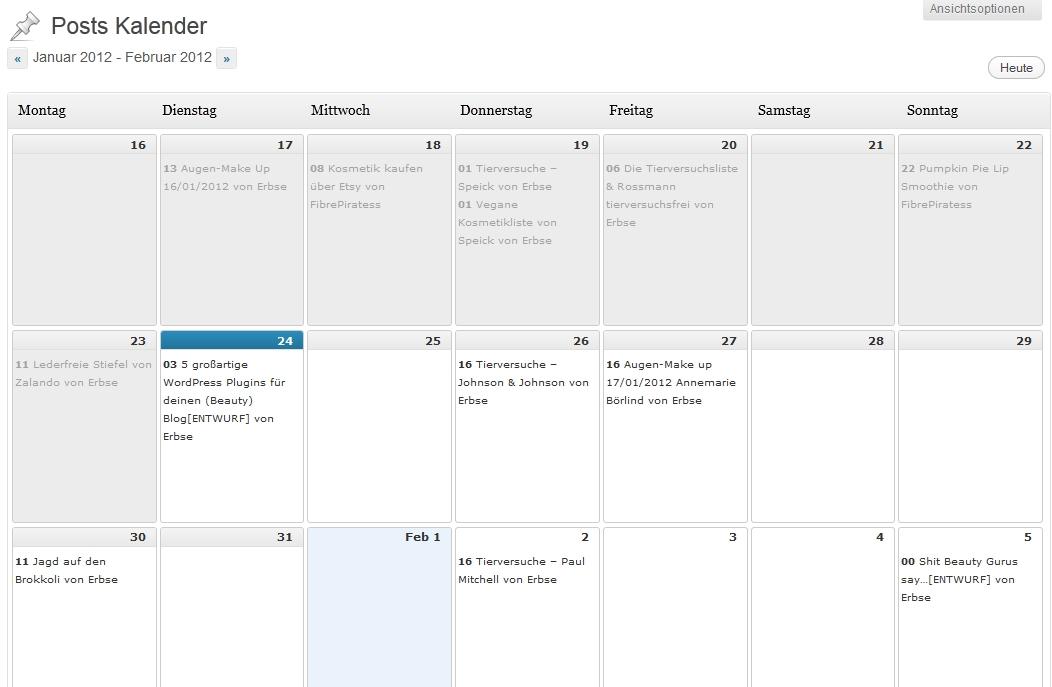 wppostskalender