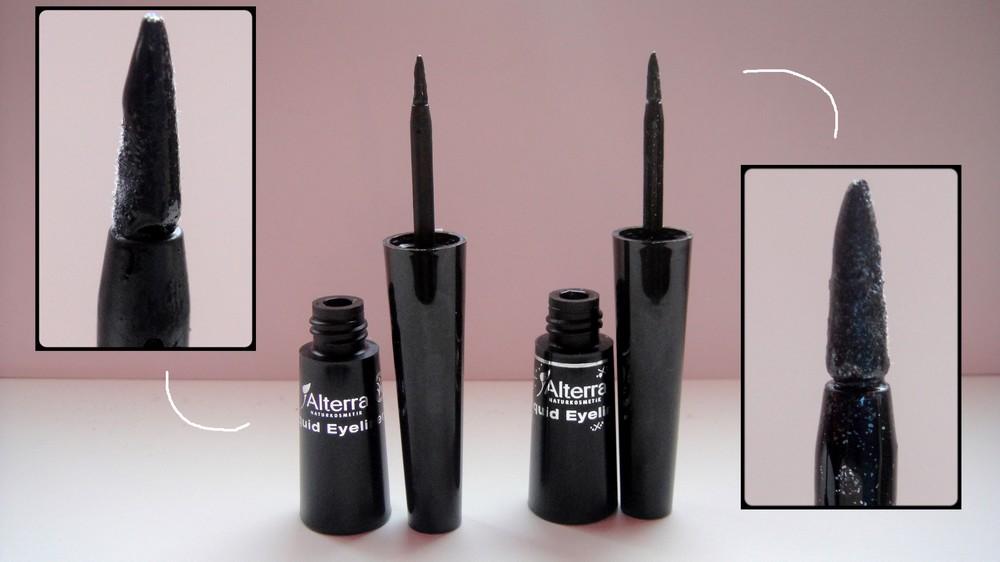 Alterra LE Black is Beautiful vegan Liquid Eyeliner Deep Black Grey Glitter