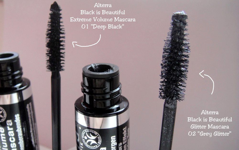 Alterra LE Black is Beautiful vegan Mascara Grey Glitter Deep Black