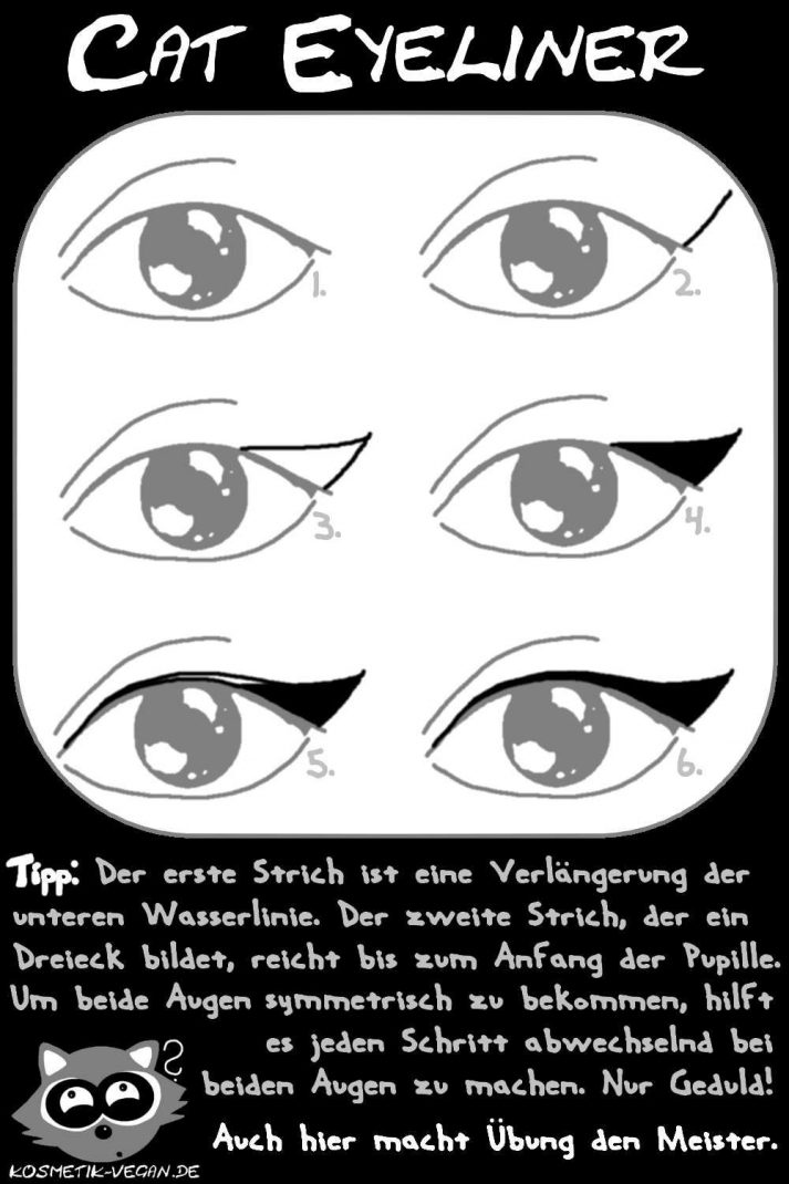 winged cat eyeliner tutorial