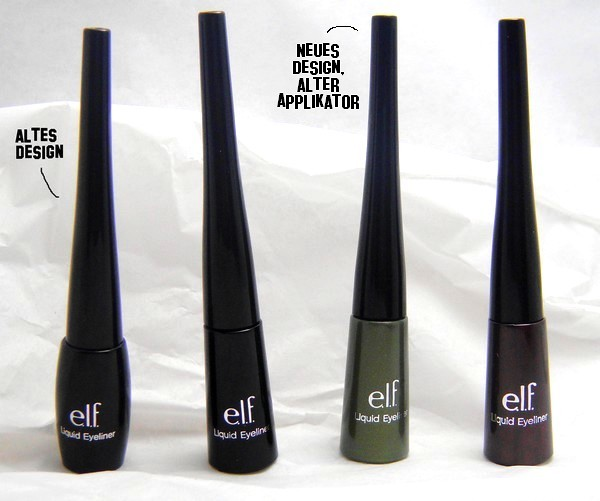 elf liquid eyeliner vegan black forest green plum old new