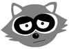 raccoon logo weiss the bad