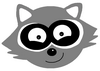 raccoon logo weiss the good