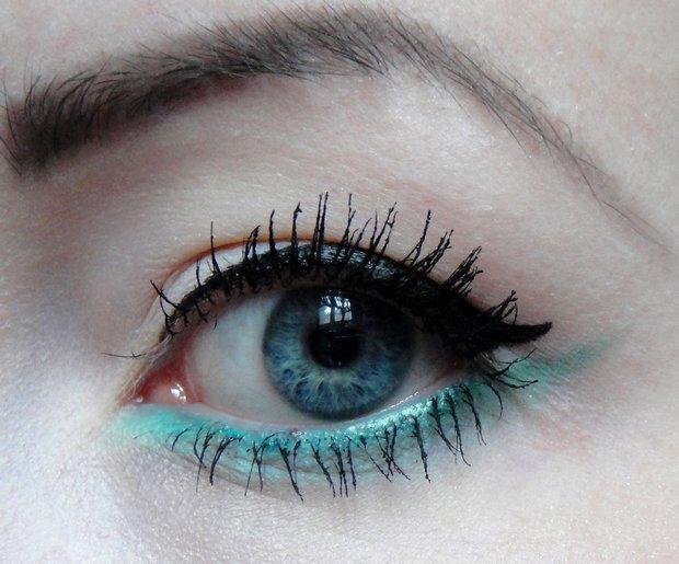 Augen make up steht mir das la kirschvogel blanc for Smokey eyes blau
