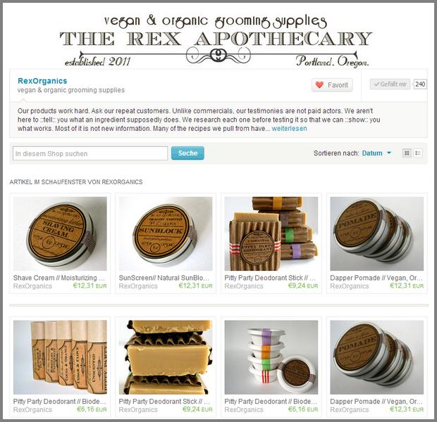 vegan organic grooming supplies von RexOrganics auf Etsy