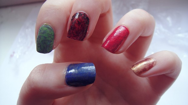 saran wrap nails vegan bunt 2
