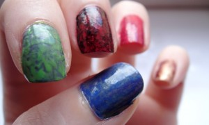 saran wrap nails vegan bunt 4