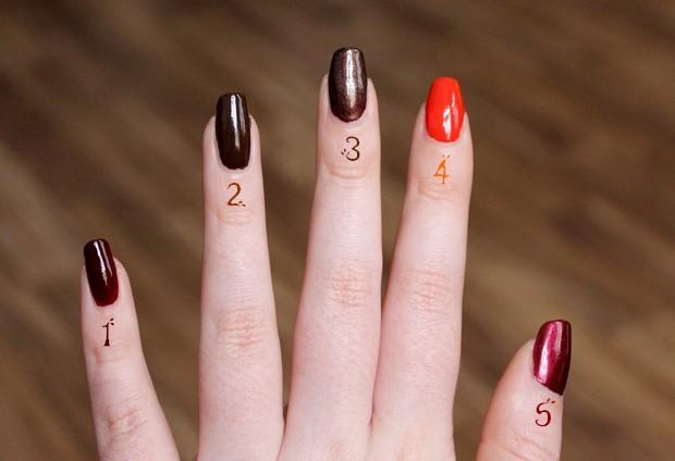 vegan leaf autumn nail polish herbst nagellack kosmetik brown orange red cruelty free black bird p2 elf priti nyc (2)