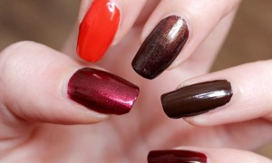 vegan leaf autumn nail polish herbst nagellack kosmetik brown orange red cruelty free black bird p2 elf priti nyc (3)
