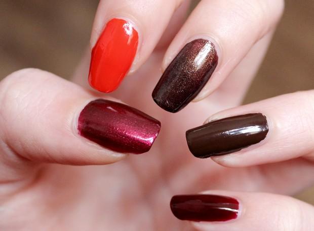 vegan leaf autumn nail polish herbst nagellack kosmetik brown orange red cruelty free black bird p2 elf priti nyc (3)