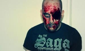 Halloween make up zombie eye blut blood gore vegan spx tutorial horror (2)