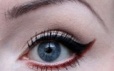 amu make up red rot vegan cruelty free red eyeliner erbse fotd 2