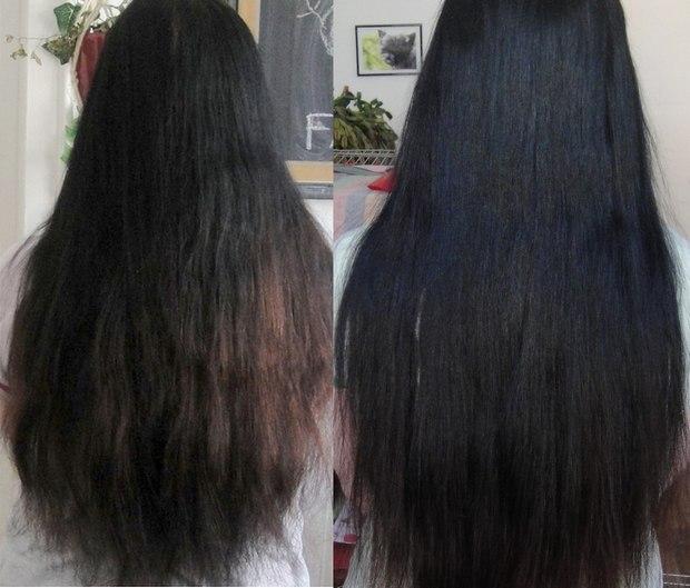 nach wenigen Tagen ohne Shampoo und nach 500 Tagen ohne Shampoo - poo free - vegan