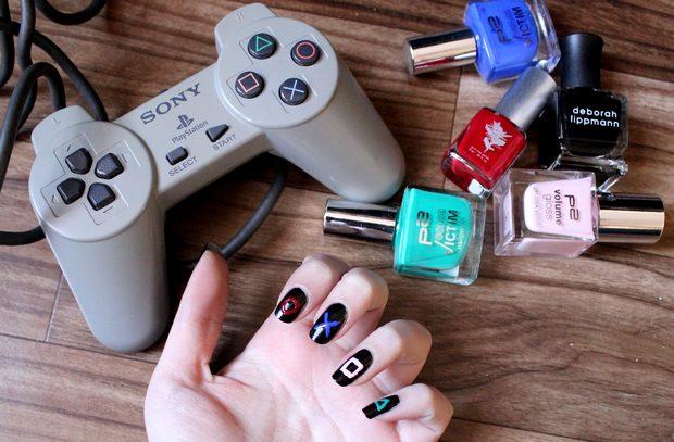 nageldesign nailart vegan tierversuchsfrei cruelty free playstation nerd geek video games gaming nail polish nagellack p2 deborah lippmann priti nyc