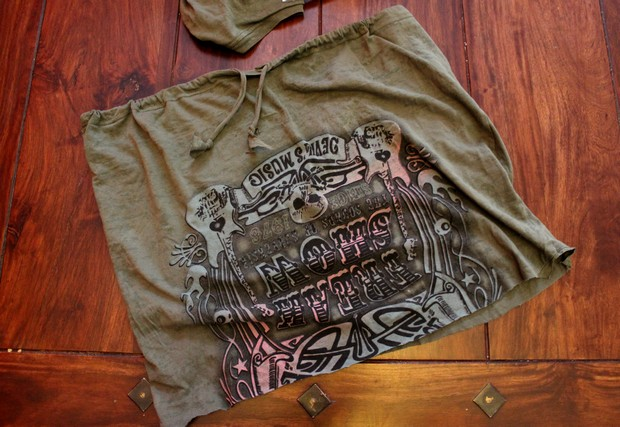 upcycling handmade handcraft shirt jersey skirt rock without sewing ohne nähen easy vegan diy