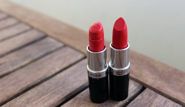 Alva Hot Red Lippenstift rot vegan kosmetik Naturkosmetik brick vergleich review
