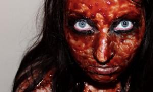 halloween vegan zombie diy kostüm quick and easy leicht und schnell rote beete blood blut 3