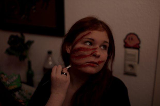 halloween vegan kosmetik zombie romy zombiekatze erbse pseudoerbse