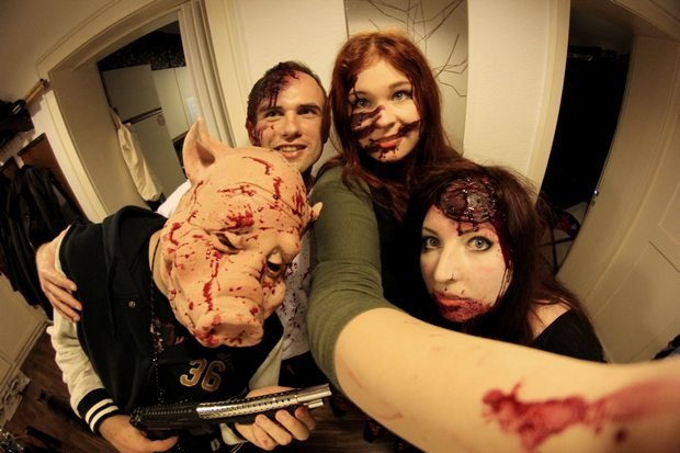 halloween vegan kosmetik zombie wunde kunstblut blut erbse pseudoerbse bengtrock celilander zombiekatze