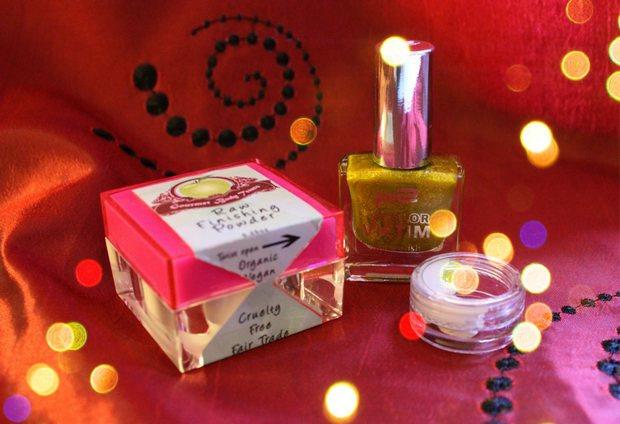 blogging around the christmas tree gewinnspiel verlosung vegan kosmetik erbse 2014