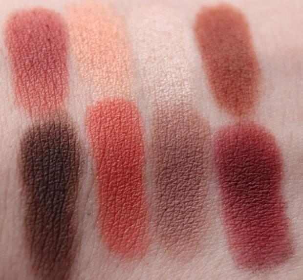 lime crime venus palette swatch red eyeshadow vegan kosmetik erbse 1