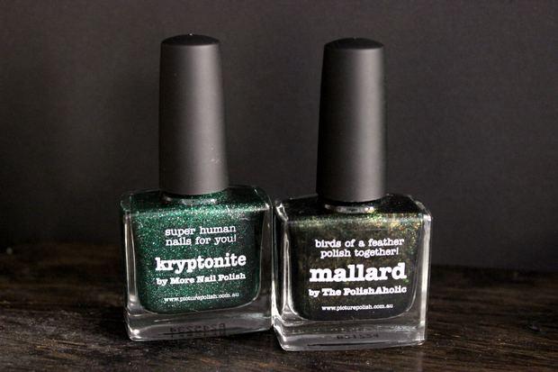 picture polish makeupland vegan nagellack 5 free kosmetik grün green kryptonite mallard