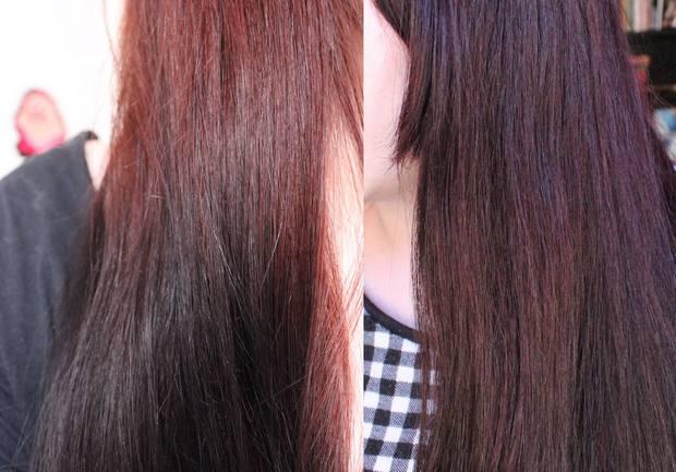 la riche directions dark tulip auf henna rot kosmetik vegan vorher nachher