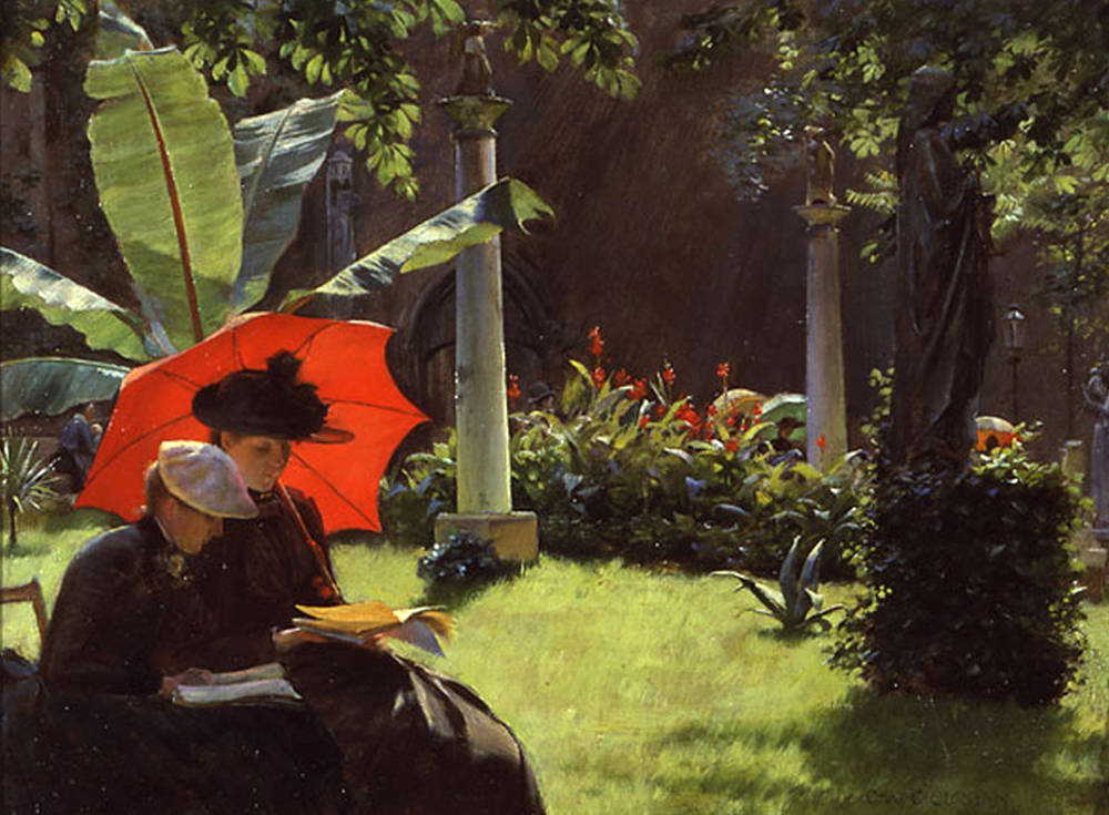 vegan sonnenschutz kosmetik Charles_Courtney_Curran,_1889_-_Afternoon_in_the_Cluny_Garden,_Paris