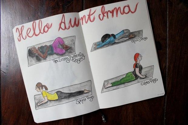 Pilates yoga vegan kosmetik sport menstruation periode pms Bauchkrämpfe hello aunt irma