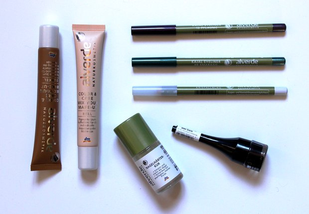 Alverde vegan Sortiment Herbst 2015 Kajal Khol Eyeliner Eye Brightener Kristallblau Pflaume Smaragd Color Care Mix your make up