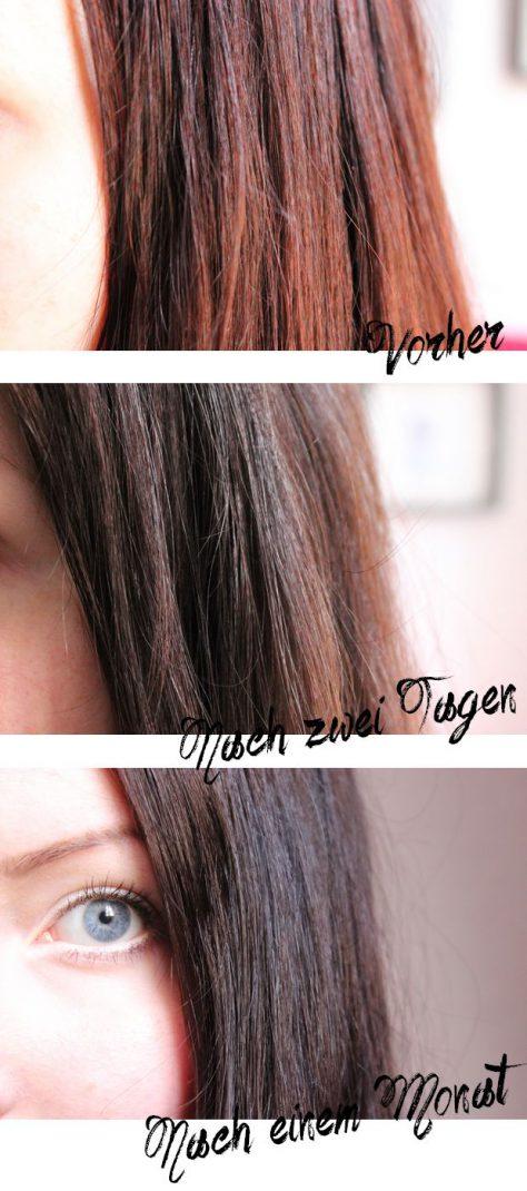 Radico Violett indigo henna anwendung tipp tricks vegan kosmetik pflanzen haare farbe lila schwarz vorher nachher nach einem Monat