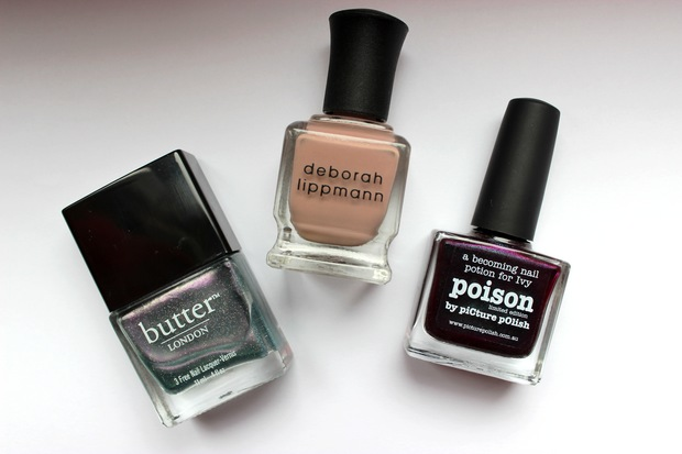 nagellack vegan butter london knackered deborah lippmann modern love swatch nail polish poison picture polish