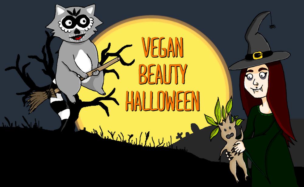 Vegan Beauty Halloween kosmetik vegan Erbse Waschbaer 2015 klein und heller