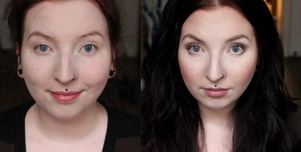 lunatick cosmetic labs vegan contouring palette kosmetik indie brands before after vorher nachher highlighter strobing full makeup