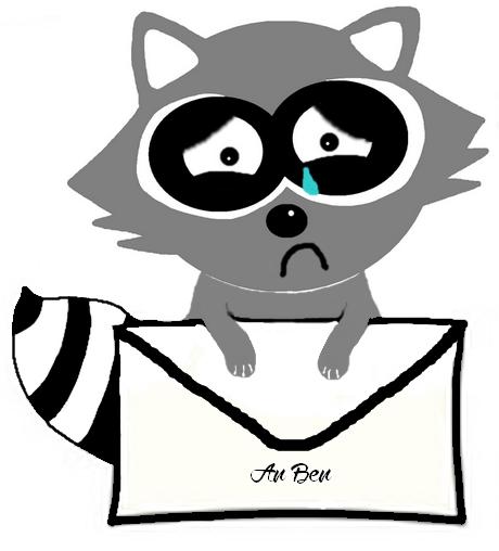 raccoon ben traurig