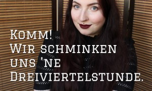 schminkvideo thumbnail kosmetik vegan get ready with me video naturkosmetik