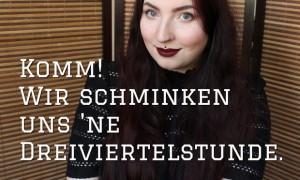 schminkvideo thumbnail kosmetik vegan get ready with me video naturkosmetik