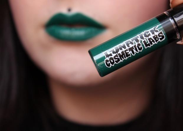 vegan kosmetik cruelty free green lipstick creature liquid lipstick lip slick lunatick cosmetic labs (2)