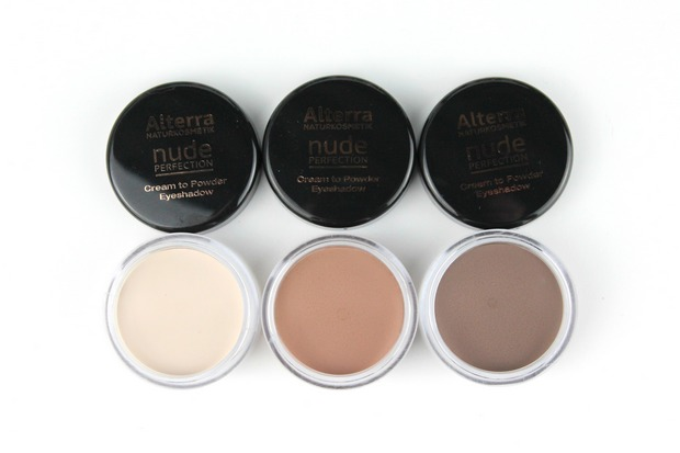 Alterra Nude Perfection Rossmann limitierte Edition LE vegan Naturkosmetik Swatch Swatches Lidschatten cream to powder