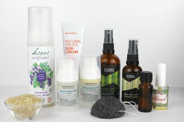 Vegane Gesichtspflege tierversuchsfrei cruelty free vegan naturkosmetik natural organic dabba aromatica kivvi konjac cremekampagne